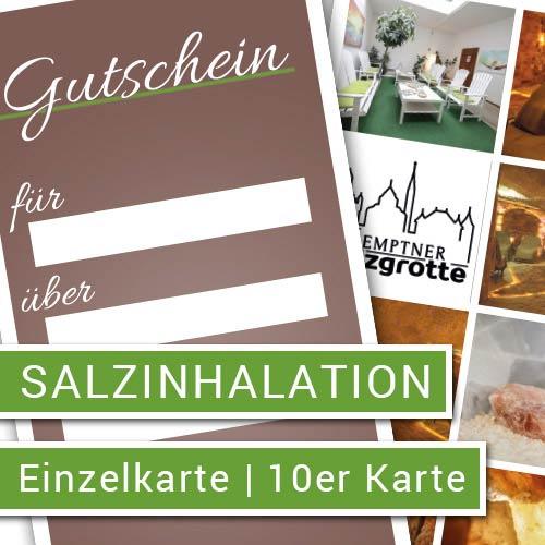 Salzinhalation als Gutschein - Kemptner Salzgrotte