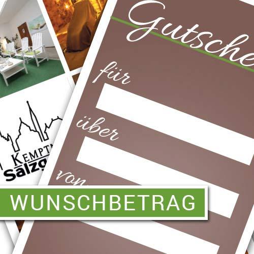 Wunschbetrag als Gutschein - Kemptner Salzgrotte